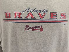 ADIDAS Atlanta Braves Logo  Baseball MLB Long Sleeve T Shirt  Mens Size M Medium