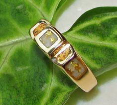 ANTIQUE GOLD NUGGET necklace locket placer gold chain pendant