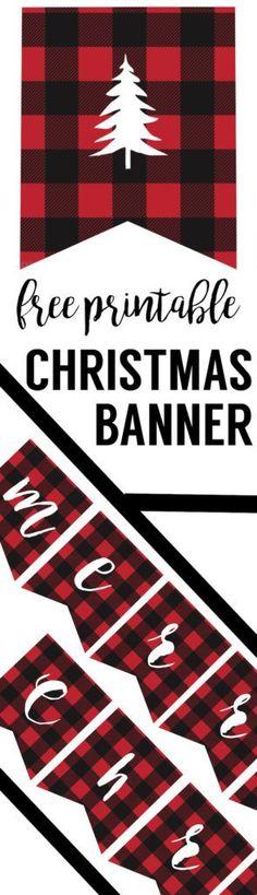 Diese Lumberjack Flanell-Banner m… Free Printable Merry Christmas Banner. Make this Lumberjack Flannel Banner … – Christmas Banner Printable, Merry Christmas Banner, Plaid Christmas, Rustic Christmas, Simple Christmas, Christmas Humor, Winter Christmas, Christmas Crafts, Christmas Ideas