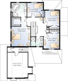 This victorian design floor plan is 2279 sq ft and has 4 bedrooms and has bathrooms. Double House, Garage Double, Double Desk, Vestibule, Victorian Design, Victorian Fashion, Family House Plans, Home And Family, European Plan