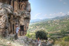 Lycian rock tombs at Tlos - Fethiye - Turkey