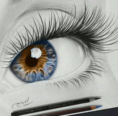The Secrets Of Drawing Realistic Pencil Portraits - . Secrets Of Drawing Realistic Pencil Portraits - Discover The Secrets Of Drawing Realistic Pencil Portraits Art Sketches, Art Drawings, Portrait Au Crayon, Realistic Eye Drawing, Drawing Eyes, Eye Sketch, Color Pencil Art, Colored Pencil Portrait, Colored Pencil Drawings