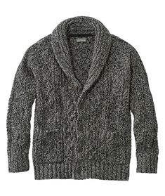 Find the best Men's Signature Cotton Fisherman Sweater, Shawl-Collar Cardigan at L. Our high quality Men's Sweaters are thoughtfully designed and built to last season after season. Best Mens Sweaters, Men Sweater, Cable Cardigan, Cardigan Sweaters, Mens Shawl Collar Cardigan, Cardigans, Cool Signatures, Hats For Men, Women Hats