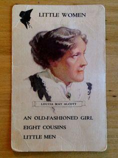 Vintage Louisa May Alcott Swap Card on Etsy, $2.25 AUD