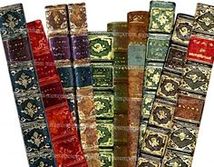 Old book spines as bookmarks (not sure about destroying the books though....)
