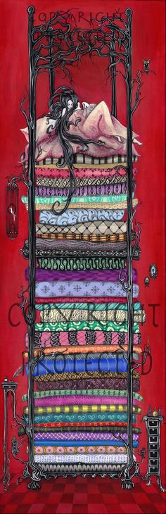 Princess and the Pea Print by GabrielleNeveu on Etsy, $120.00