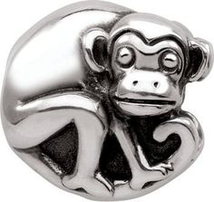 "Persona Sterling Silver ""Silver Monkey"" Charm H12224P1"