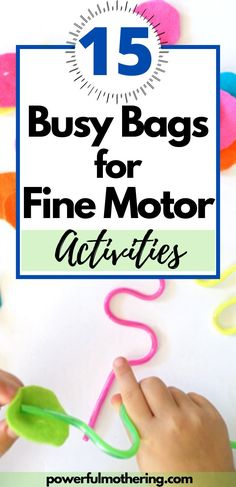 Awesome busy bags that focus on fine motor skills for toddler and preschool Toddler Preschool, Preschool Activities, Busy Bags, Motor Activities, 5 Year Olds, Fine Motor Skills, 5 Years, Business, Awesome