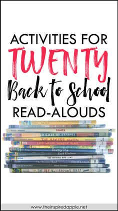 Looking for activities to do with your favorite back to school read-alouds for kindergarten, first grade, and second grade? This post has you covered, teachers! It's full of standards-based activities for twenty of your favorite books, perfect for reading to your kids during ELA this back to school season. Each set of activities focuses on comprehension, vocabulary, and a variety of literacy skills for whole group and small group instruction. Check it out over at The Inspired Apple by Babbling A