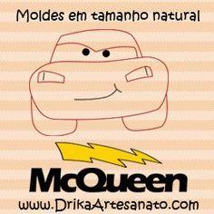 Patchwork Moldes Relâmpago McQueen para patch aplique