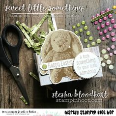 Happy Thanksgiving Everyone! This blog post will be short and sweet as I am spending time with my family, but I still wanted to share three projects from my OnStage 2017 Salt Lake City Display. Today's featured stamp is that cute little bunny from Sweet Little Something! I stamped the bunny above in three colors …