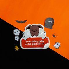 "Stiker ""Awas Anjing Galak"""