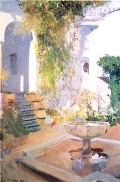 Learn more about Garden Grotto, Alcazar de Seville, 1910 Joaquin Sorolla y Bastida - oil artwork, painted by one of the most celebrated masters in the history of art. Spanish Painters, Spanish Artists, Impressionist Paintings, Landscape Paintings, Garden Painting, Paintings I Love, Western Art, Urban Landscape, Land Scape