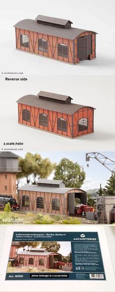 Buildings Tunnels and Bridges 120273: Archistories Z Scale 101101 Single Locomotive Shed Building Kit *New $0 Ship -> BUY IT NOW ONLY: $54.99 on eBay!