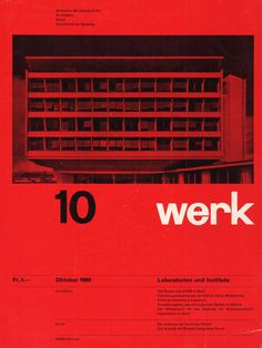 "Graphic. Welcome ☛ - jonasgrossmann: ""werk"" band 47, heft 10, 1960 @..."