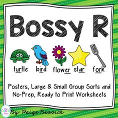 Bossy R Activities: R-Controlled Posters, Sorts & Worksheets Phonics Activities, Interactive Activities, Reading Activities, 5th Grade Teachers, Elementary Teacher, Readers Workshop, Writer Workshop, Word Study, Word Work
