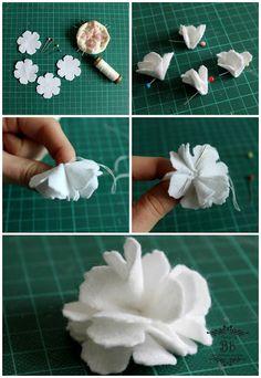 Tattered florals flower tutorial