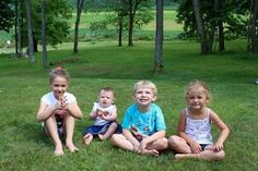 Riley Friday two years ago! Here he is with his cousins -- such cuties!
