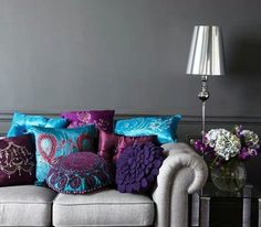 purple turquoise home - Google Search