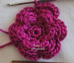All+Free+Crochet+Flower+Patterns | Flower Pin Free Crochet Pattern