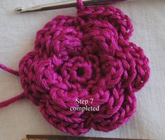 All+Free+Crochet+Flower+Patterns | Flower Pin Free Crochet Pattern