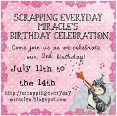 Scrapping Everyday Miracles: Our Second Birthday Celebration Card Challenges