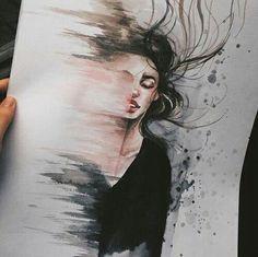 New Love Art Illustration Faces Ideas Art Amour, Wow Art, True Art, Art Sketchbook, Cool Drawings, Hipster Drawings, Drawing Pictures, Dark Art Drawings, Art Drawings Beautiful