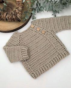 Crochet Baby Sweater Pattern, Crochet Baby Sweaters, Newborn Crochet Patterns, Baby Sweater Patterns, Baby Patterns, Crochet Clothes, Baby Knitting, Romper Pattern, Preston