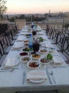 St George Hotel Jerusalem And the table is set #dinner #event #rooftop #Jerusalem