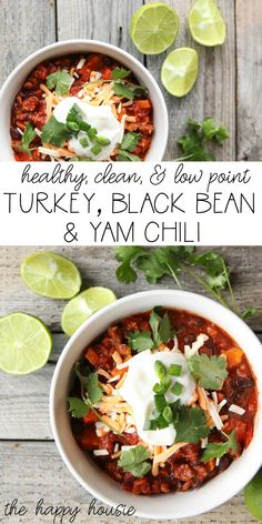 Healthy & Delicious Turkey, Black Bean, & Yam Chili | The Happy Housie