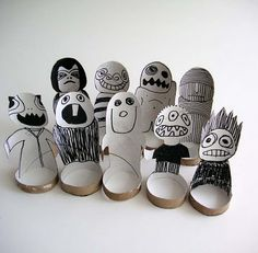 toilet paper rolls, toilet roll, upcycl toilet, tp roll, craft ideas, roll monster, rainy day crafts
