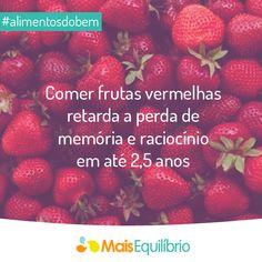 Comer frutas vermelhas retarda a perda de memória e raciocínio em até 2,5 anos http://maisequilibrio.com.br/alimentos-vermelhos-2-1-1-139.html