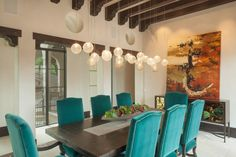 shiny balls pendants of Lighting to Pamper You in Dining Room