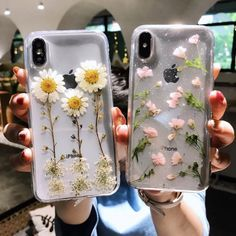 Clear Soft Real Dried Flower Phone Cover - Transparent Iphone 7 Plus Case - - Clear Soft Real Dried Flower Phone Cover Girl Phone Cases, Cute Phone Cases, Iphone Phone Cases, Phone Covers, Amazing Phone Cases, Iphone Seven Cases, Iphone 9, Cool Iphone Cases, Apple Iphone