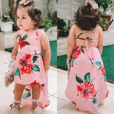Details about Summer Toddler Kid Baby Girls Sundress Sleeveless Flower Party Dress Clothes New - Kids Dress Wear, Little Girl Outfits, Kids Outfits Girls, Little Girl Dresses, Girls Dresses, Dresses Dresses, Toddler Outfits, Baby Girl Fashion, Toddler Fashion
