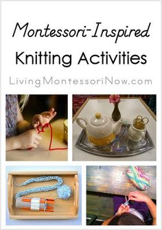 Here are Montessori-inspired knitting activities from around the blogosphere along with knitting resources that are helpful for preparing Montessori-inspired knitting activities.