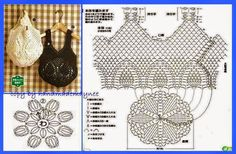 """crohcet shoppin gbags with pienapple [ """"Crochet Designs Free: For those who love crochet bag I found three beautiful bags with revenue."""", """"Crochet Bags with Pineapple motif free pattern. Crochet Diagram, Crochet Chart, Love Crochet, Filet Crochet, Crochet Blanket Patterns, Diy Crochet, Crochet Top, Crochet Motif, Beautiful Crochet"""