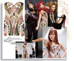 """BOM 2NE1 SCREAM DRESS"" by alice-glamour ❤ liked on Polyvore"