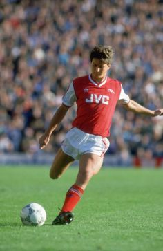 Steve Williams in Arsenal colours with JVC