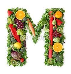 Alfabeto di frutta e verdura - lettera M