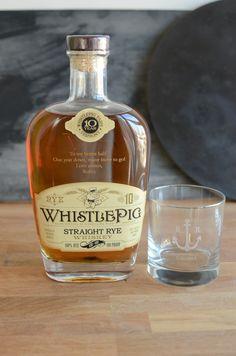 Custom engraved Whistle Pig Rye Whiskey