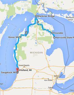 Beachtowns Michigan Pinterest Lakes Beach And Vacation - Driving map of michigan