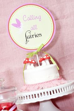 GARDEN FAIRY Party Collection- Printable Smash Cake Topper- A Blissful Nest. $6.00, via Etsy.