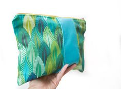 Summer Clutch in Aquamarine Blue and Green by BirdsAreCurious
