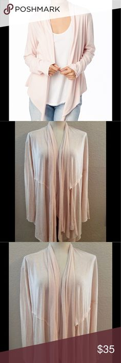 Alternative Apparel Organic Cotton Stevie Wrap Faded pink  Long sleeve wrap  The long side panels can be tied together or draped open for a variety of looks   100% organic cotton  Never been worn Alternative Apparel Other