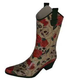 I so want these....  Amazon.com: Corky's - Women's Rodeo Roses and Skulls Western Rain Boots: Shoes