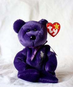 cc1091dce78 Princess Diana Beanie Baby Rare with Errors on Hang Tag Rarely Seen for  Sale Princess Diana Bear Beanie Gasport Error Valuable Beanie Baby