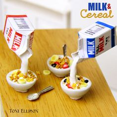 how to: milk and cereal (with printables)
