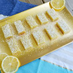 Old-Fashioned Lemon Bars (Only 5 Ingredients) - Older Mommy Still Yummy Yummy Treats, Delicious Desserts, Sweet Treats, Old Fashioned Recipes, Those Recipe, Lemon Bars, How To Squeeze Lemons, Baking Pans, Recipe Box