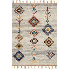 Nourison Moroccan Casbah Cream Grey Indoor Moroccan Area Rug (Common: 7 x Actual: W x L) at Lowe's. The Moroccan casbah collection transports you to a vibrant and colorful Moroccan rug market, with richly hued tribal rugs that feature a combination of Tribal Decor, Tribal Rug, Scandinavian Area Rugs, Estilo Navajo, Moroccan Area Rug, Moroccan Art, Moroccan Style, Transitional Area Rugs, Tribal Patterns